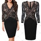 Ladies Formal Cocktail Evening Party Business Work Casual Lace Pencil Dresses