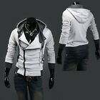 Men Casual Slim Fit Hoodies Hooded Coat Jacket Tops Cotton Overcoat Outwear Tops