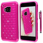 Style4U Crystal Bling Hybrid Armor HTC One M9 Phone Case with Stylus