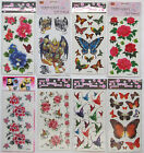 TEMPORARY TATTOO Butterfly SKULL TRIBAL Rose Flowers ect