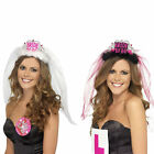 Bride To Be Crown Tiara Veil Bachelorette Girls Night Hen Party Do Dress NEW
