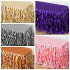 """21 feet x 29"""" Taffeta Curly Banquet TABLE SKIRT Party Wedding Booth Decorations $85.48 USD"""