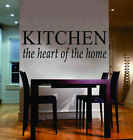 Kitchen Heart Of Home Quote Lettering Wall Vinyl Decal