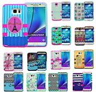 For Samsung Galaxy Note 4 5 S7 S5 Hybrid Rubber Hard Armor Shockproof Cover Case