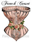 French Corset & Roses Cotton Quilt Block Multi Sizes FrEE ShiPPinG WoRld WiDE