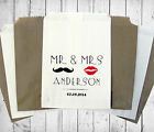 Personalised Wedding Sweet Bags LIPS MOUSTACHE Candy Cart Wedding Favours Confet