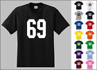 Number 69 Sixty Nine Sports Number Youth Jersey T-shirt Fron
