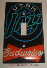 Utah Jazz Budweiser Beer Light Switch Duplex Outlet Cover Plate Home decor