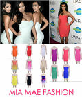 WOMENS CELEBRITY TIGHT BANDAGE SLEEVELESS KARDASHIAN BODYCON DRESS FASHION