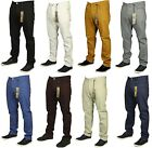 BNWT KAM STRETCH CHINOS JEANS STRAIGHT LEG  7 COLOURS BLACK GREY WHITE NAVY INK