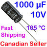 1000uF 10V 10x20mm 105C SAMWHA RZ Extremely low Impedance LCD TV AUDIO PC