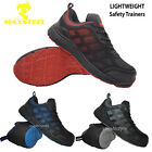 NEW LADIES LIGHTWEIGHT STEEL TOE CAP TRAINERS SAFETY WOMENS LACE-UP WORK BOOTS