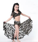 KID's 2pcs set Lace Blouse Top and Long Skirt Belly Dance Costumes Professional