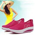 Fashion Women Wedge Mesh Increased New Summer Slip on Shallow Trifle Shoes
