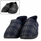 All Over Check Full Slippers With Fleece inner Linning For Men - Black Or Navy