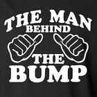 the Man Behind the Bump T-shirt Men's Fathers Day Funny Dad Pregnancy Baby