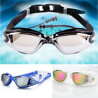 Unisex Adult Anti-Fog Swimming Goggles Swim Glasses UV Protection Earplug