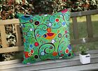 Birds and Branches VELVET PILLOW COVER Prim FOLK ART Various Sizes Karla Gerard