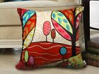 Sweet Sunshine VELVET PILLOW COVER FOLK ART Abstract Prim Various sizes Karla G