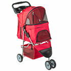 VIVO Three Wheel Pet Stroller / Cat & Dog Foldable Carrier Strolling Cart