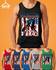 Freedoom The Statue of Liberty Tank Top Patriotic Tattered Vintage USA Flag Men'