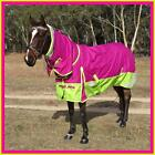 LOVE MY HORSE 600D 300g 5'0 - 6'6 Reflective Winter Combo W'proof Rug Pink /Lime