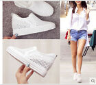 Fashion Hollow Out Womens Slip On Hidden Wedge loafers Casual Atheltic Sneakers