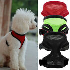 Soft Mesh Fabric Dog Puppy Pet Adjustable Harness With Clip For Lead Leash UK