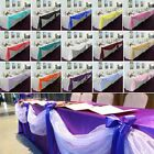 Wholesale 5 Top Table Swag Sheer Organza Fabric DIY Wedding Sash Bow Stair Decor