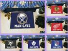 NHL Licensed Man Cave Starter Area Rug Floor Mat Carpet - Choose Your Team