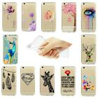 Hot Vogue Flower Transparent Ornament Soft Silicone Case Cover For iPhone Series