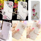 Hot Luxury Bling Rhinestone Diamond Jewelled Leather Flip Wallet Card Case Cover