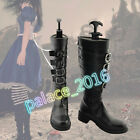 Anime Alice Madness Returns Cosplay Black Shoes Boots Custom