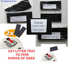 Cat Litter Tray Filters -Neutralise Odours -Choice of Sizes to fit Cat Box/Dome>