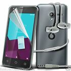 Ultra Thin Clear Gel Case Cover✔In Ear Stereo Headset for Alcatel Pixi 4 (4.0)