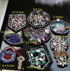 2-5pcs eyes key beads Rhinestones sequins dress brooch appliques patches 3580