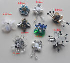 15pcs sequins beads Rhinestones shoes bag socks appliques patches brooches 4146