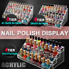 Clear Acrylic Nail Polish Varnish Cosmetics Display Stand Rack Organiser