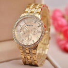 Luxury Fashion Geneva Women's Crystal Stainless Steel Quartz Analog Wrist Watch.