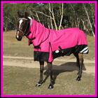 LOVE MY HORSE 5'0 - 6'9 1200D Reflective Fleece Lined Turnout Combo Pink / Black