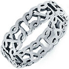 New 925 Sterling Silver Abstract Design Celtic Knot Wedding Band Ring Size 4-13