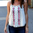 Women Summer Sleeveless Printed Vest Tee Shirts Boho Blouse Casual Tank Tops New