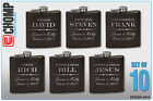 Groomsman Gifts Set of 10 Personalized Engraved Flask, Wedding Bridesmaid Party