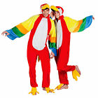 MENS LADIES ADULT PARROT COSTUME RIO FUNNY BIRD FULL PLUSH FANCY DRESS OUTFIT