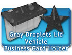 Outdoor Vehicle Business Card Holders Gray Droplet camouflage truck car auto