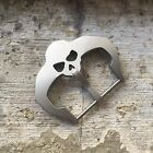 24mm Steel Brush Polish Sandblasted SKULL Buckle Clasp for Watch Band Strap