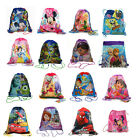 12x Disney Party Favors Drawstring Backpack Sling Tote Gym Bag - Boys Girls Kids