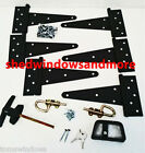 """Shed Door Hardwre Kit 8"""" hinges Playhouse, Coops, Barns Hinge T Handle Bolts"""