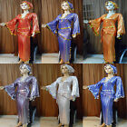Egyptian Belly Dance Baladi Saidi Galabeya Dancing Dress Cost +2 SCARVES T 566 N