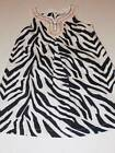 gymboree dress girls size 4 wild for zebra black white sleeveless shift NWT